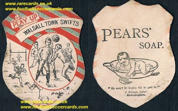 1880s Walsall Town Swifts Baines Pears Soap card